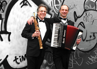 L'Chaim Accordion Sax Duo For Weddings