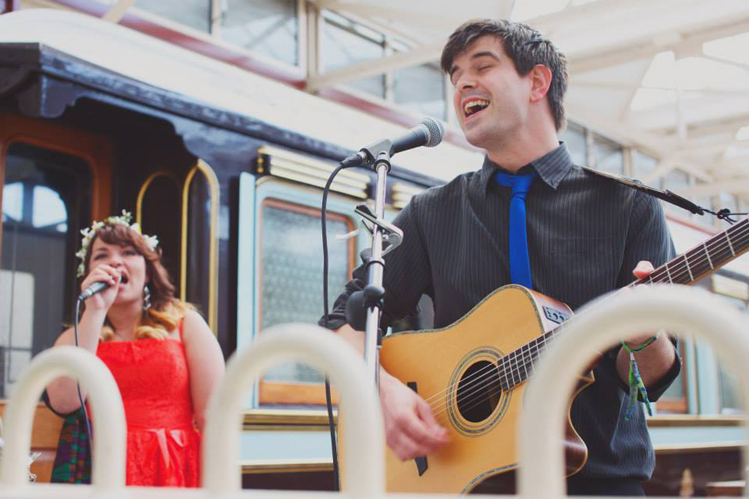 Quartertones Male Female Vocals Acoustic Duo Hire