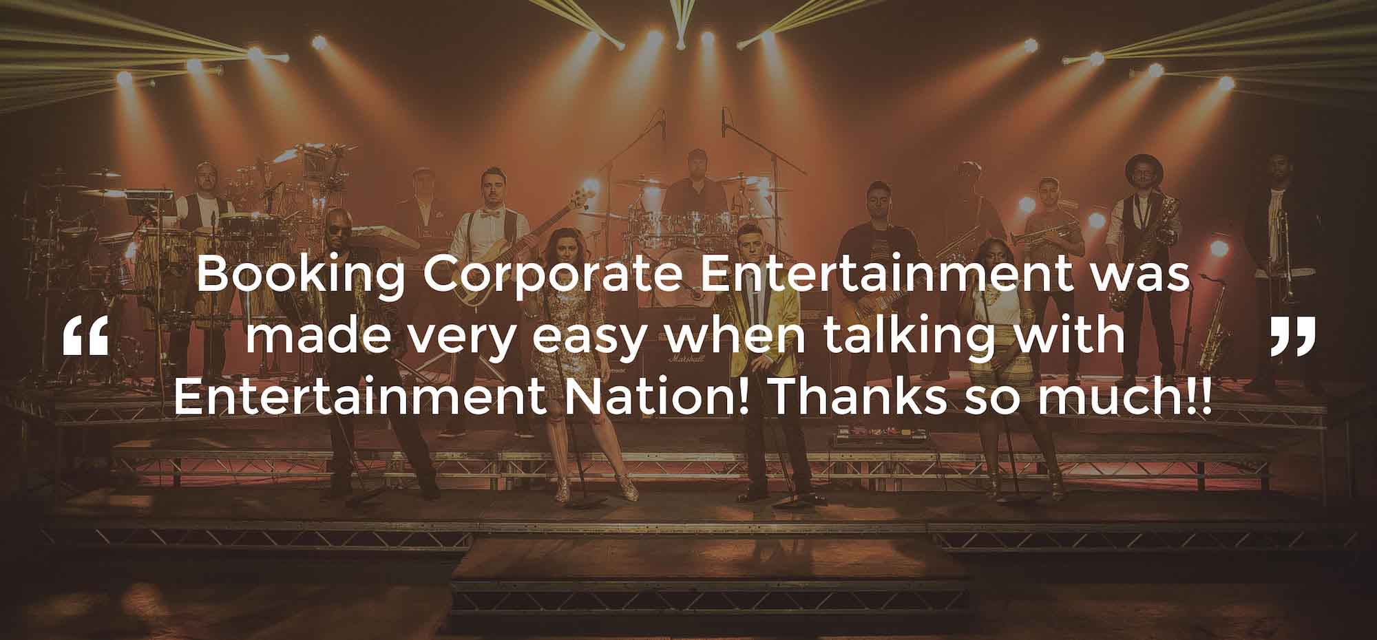 Client Review of Corporate Entertainment North Scotland
