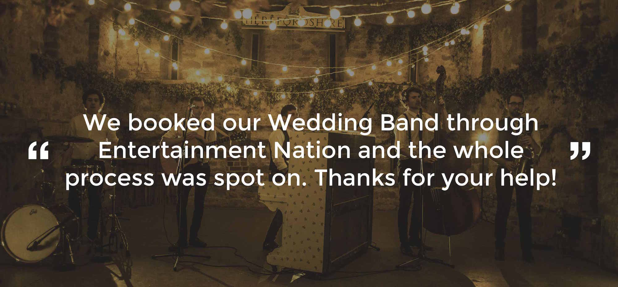 Review of Wedding Band Chester