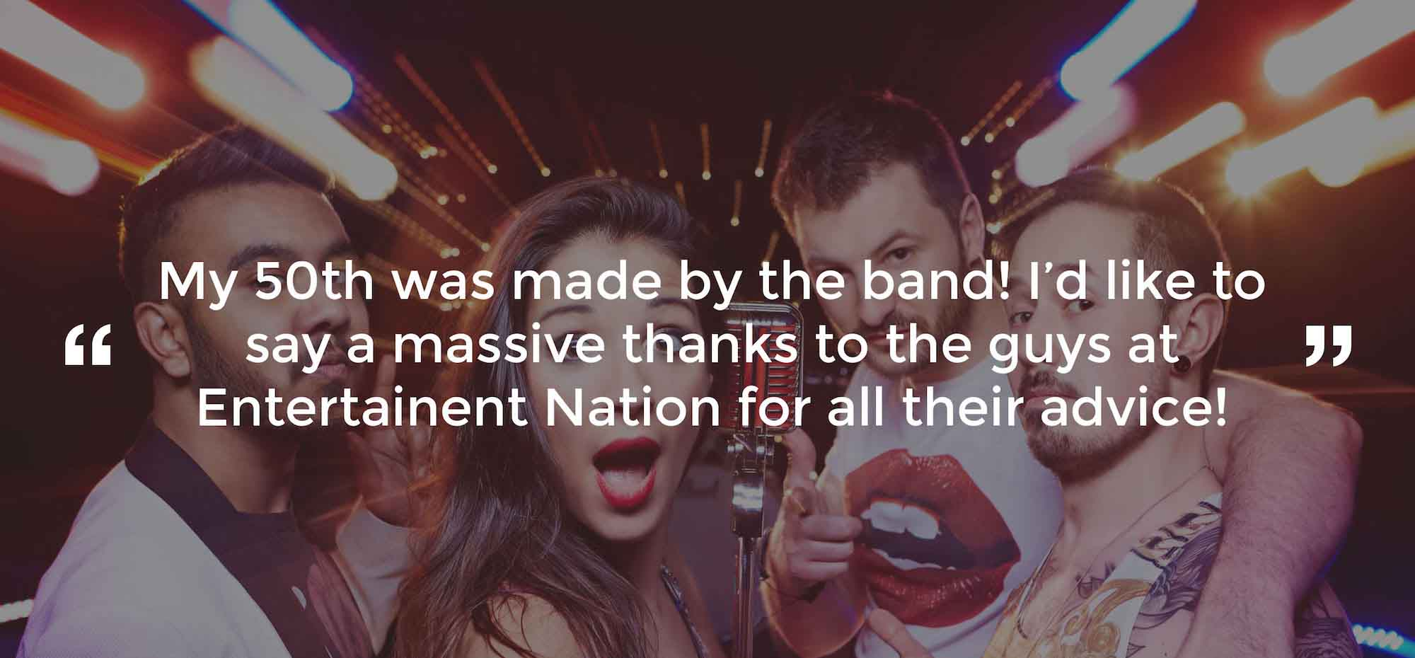 Client Review of a Party Band Cheshire