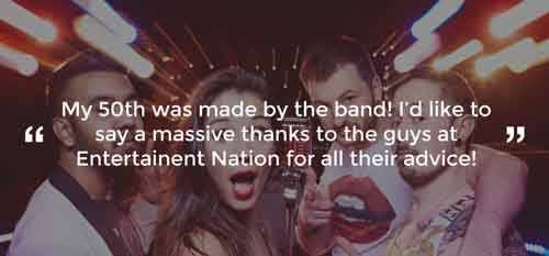 Client Review of a Party Band Powys