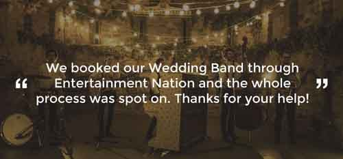 Client Review of a Wedding Band Bedfordshire