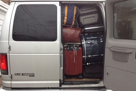 Band Van Packed With Gear