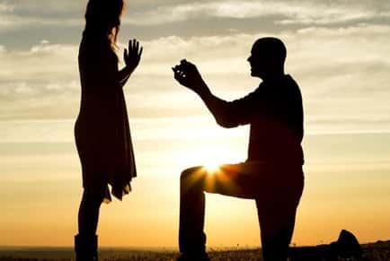 Couple Proposal Wedding Marriage