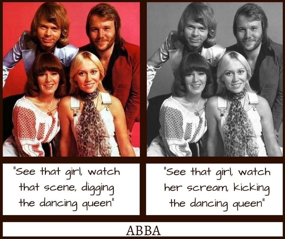 ABBA Dancing Queen Misheard Lyrics