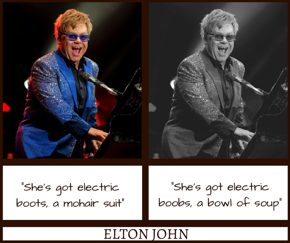 Elton John Bennie and The Jets Misheard Lyrics