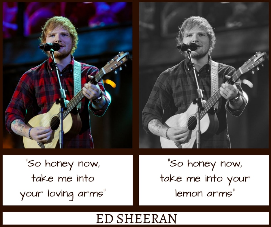 Ed Sheeran Thinking Out Loud Misheard Lyrics