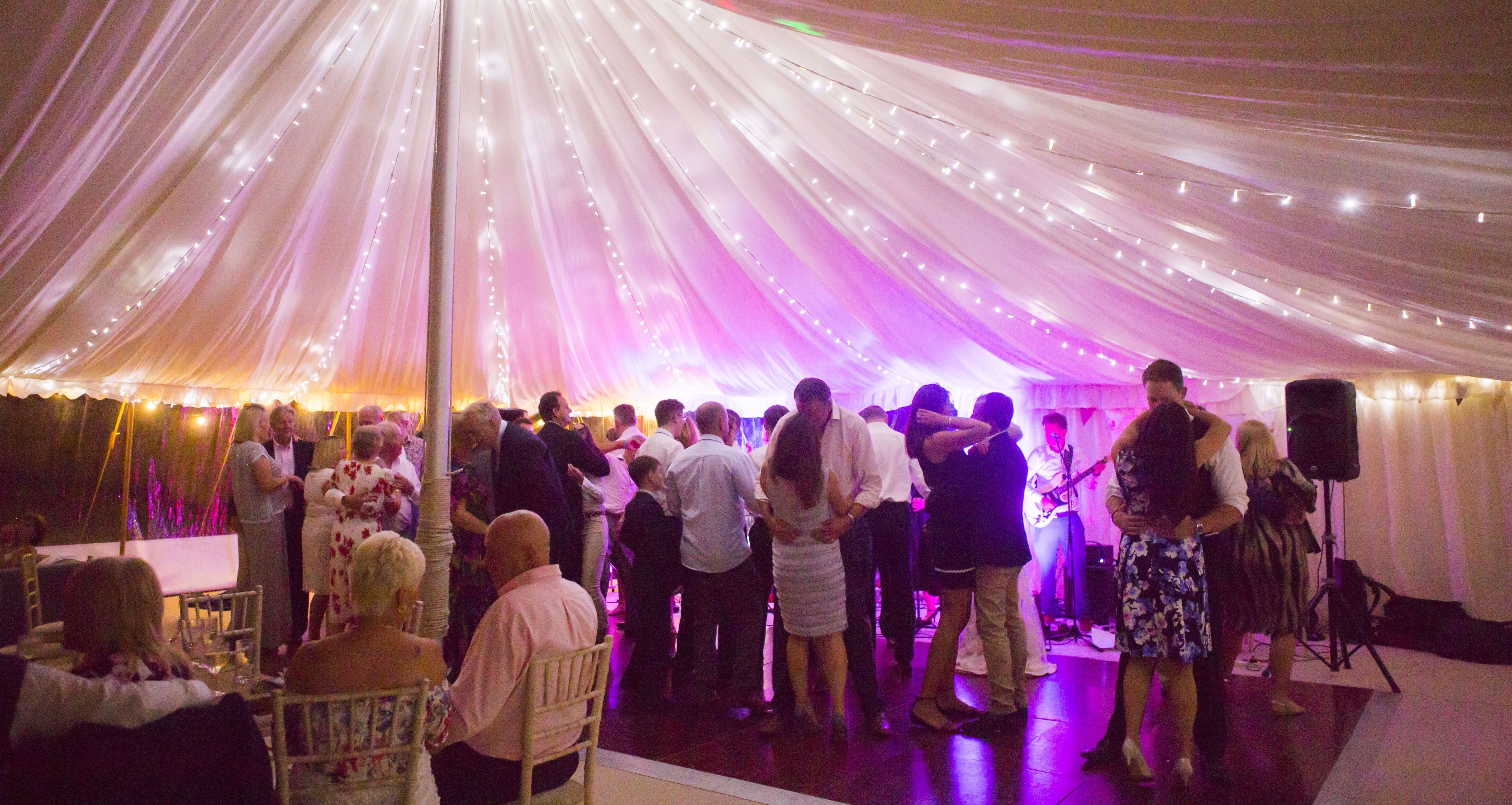 The Groove Masters Marquee Wedding