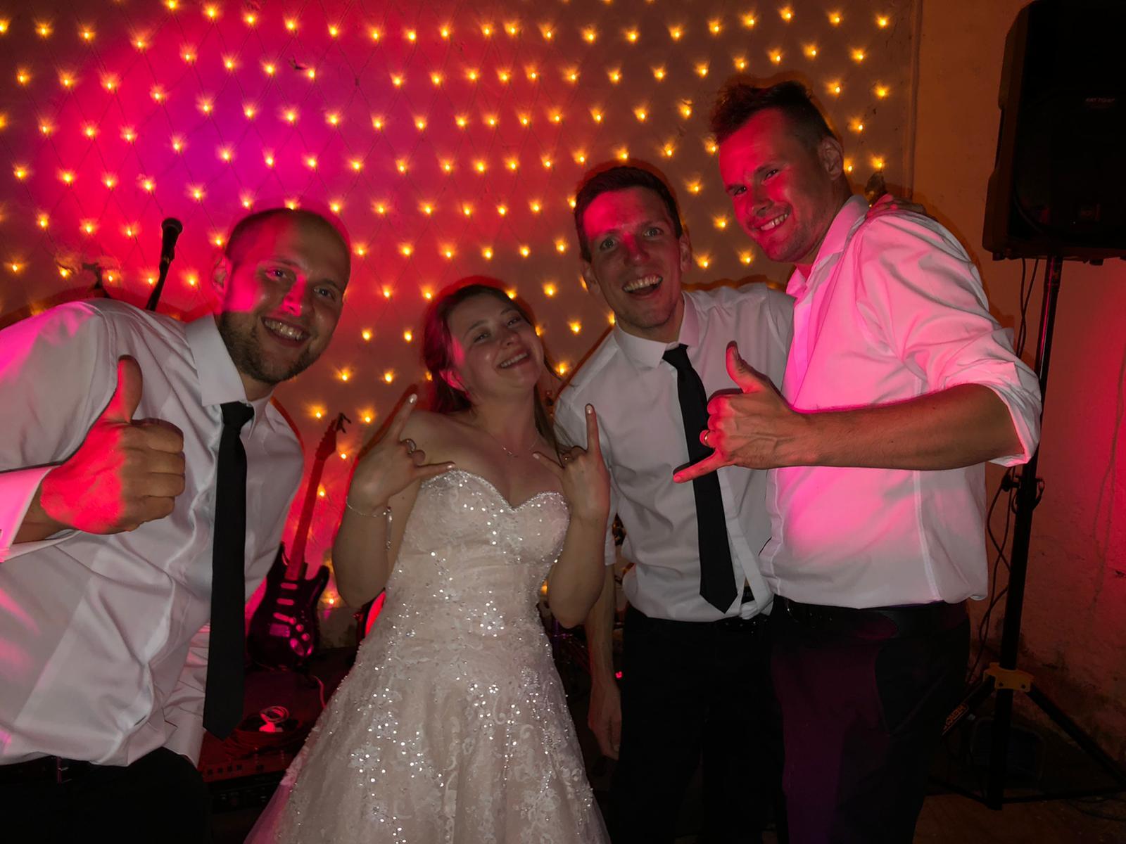 Bride with Dawson Wedding Band