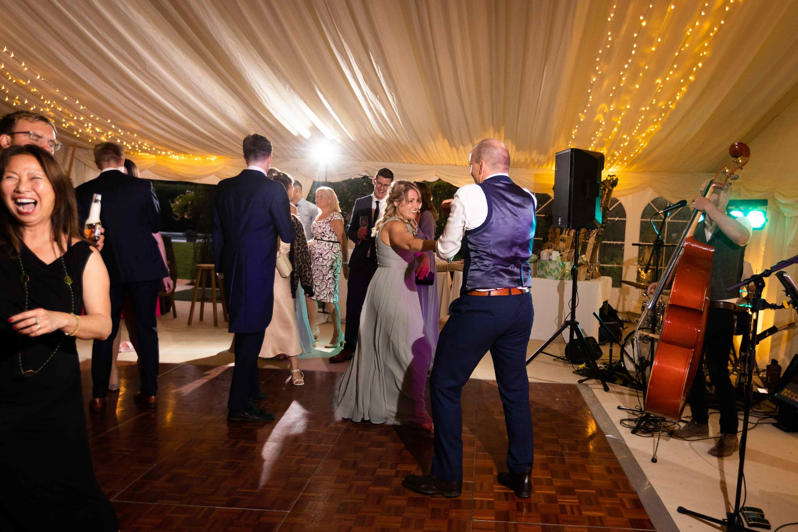 Sophie and Matts wedding guests dancing