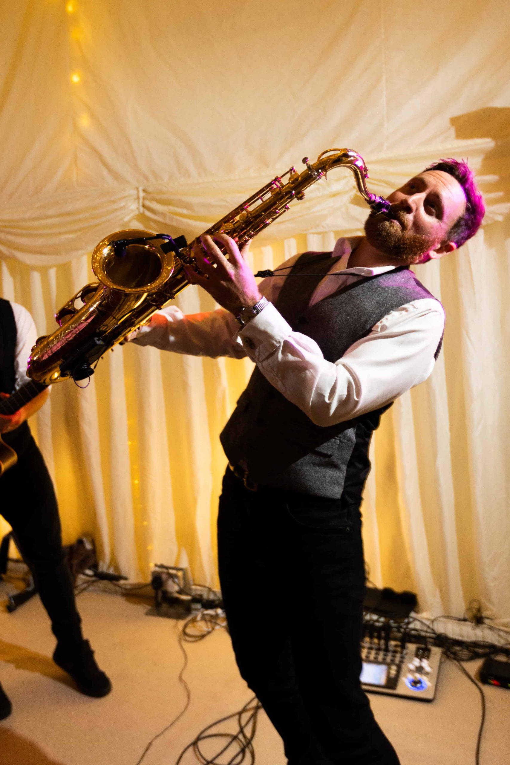 The Wildermen sax player